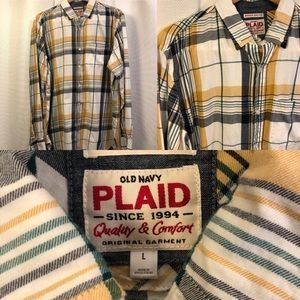 🆕 Old Navy Classic Plaid Button Down